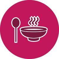 Icône de soupe de vecteur