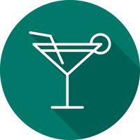 Icône de cocktail de vecteur