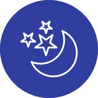 Lune et étoiles Vector Icon