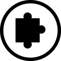 Icône de pièce de puzzle de vecteur