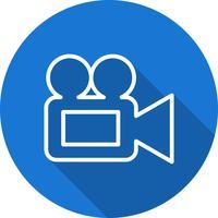 Icône de caméra vidéo de vecteur