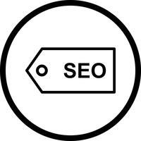 Icône de vecteur SEO Tag