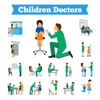 Set Docteur Enfants vecteur
