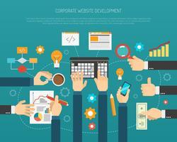 Processus de développement de site Web vecteur