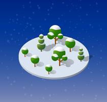 Hiver noël neigeux vecteur