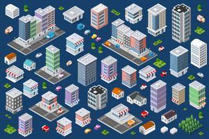Ensemble de bâtiments plats urbains