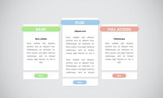 Élément de site Web propre et moderne, illustration vectorielle vecteur