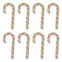 Haute canne en bonbon rouge et vert, illustration vectorielle vecteur