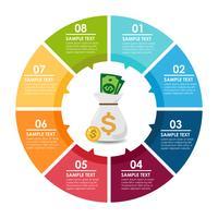 Infographie de l'argent vecteur