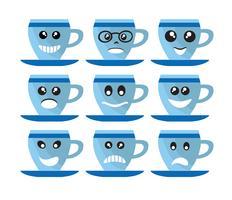 Emoji emoticon expression icons vecteur