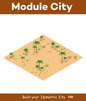 Paysage de désert naturel vecteur