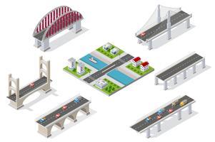 Ponts dans le domaine de l'industrie vecteur