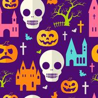 Motif Halloween citrouille vecteur