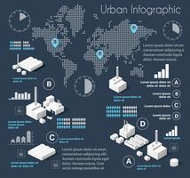 Infographie illustration bleu foncé