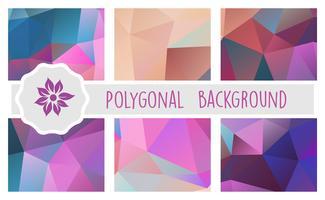 Fond polygonale pour artisanat vecteur