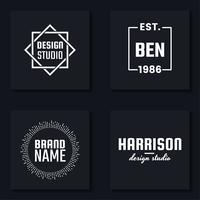 Logo vectoriel minimal pour la bannière