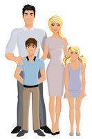 Famille heureuse pleine longueur vecteur