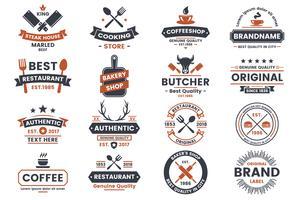 Restaurant Retro Vector Logo pour bannière