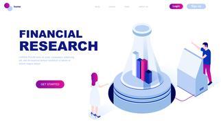 Concept isométrique moderne design plat de la recherche financière vecteur