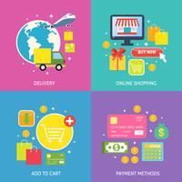 Concept de processus d'affaires à plat