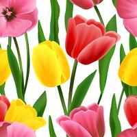 Modèle de tulipe sans soudure vecteur