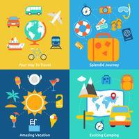 Concepts de voyages plats