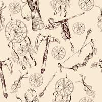 Modèle sans couture ethnique amérindien vecteur
