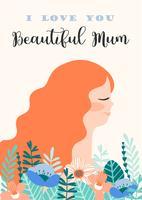 Bonne fête des mères. Femmes et fleurs