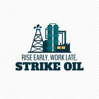 Affiche de l'industrie pétrolière vecteur