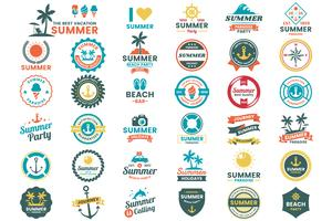 Logo vectoriel rétro de l'été pour bannière