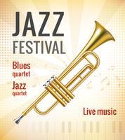 Affiche de concert jazz vecteur