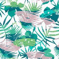 Modèle exotique sans couture avec des plantes tropicales. Fond de vecteur.
