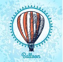 Croquis d'affiche pour montgolfière vecteur