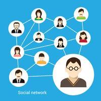 Concept de réseau social vecteur