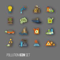 Jeu d'icônes de pollution