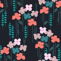 Motif floral abstrait sans soudure.