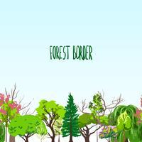 Esquisse d'arbres de frontière Fotest