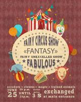 Affiche publicitaire vintage de cirque
