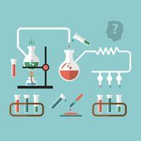 Esquisse infographique de recherche en chimie vecteur