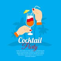 Affiche du cocktail vecteur