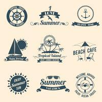 Emblèmes de la mer d'été noir