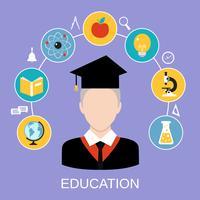 Concept d'éducation vecteur