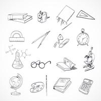 Doodle icône de l'éducation