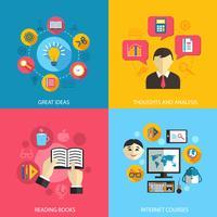 Concept d'apprentissage de l'éducation vecteur