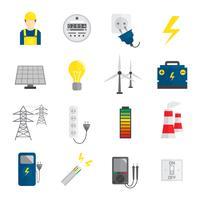 Ensemble d'icônes de l'électricité