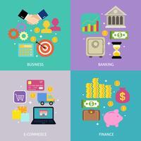 Concept de processus d'affaires vecteur