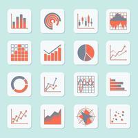 Icônes de graphique d'entreprise