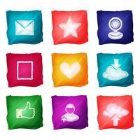 Aquarelle d'icônes de médias sociaux