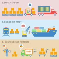Etiquettes d'icônes logistiques