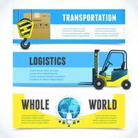 Bannières horizontales logistiques